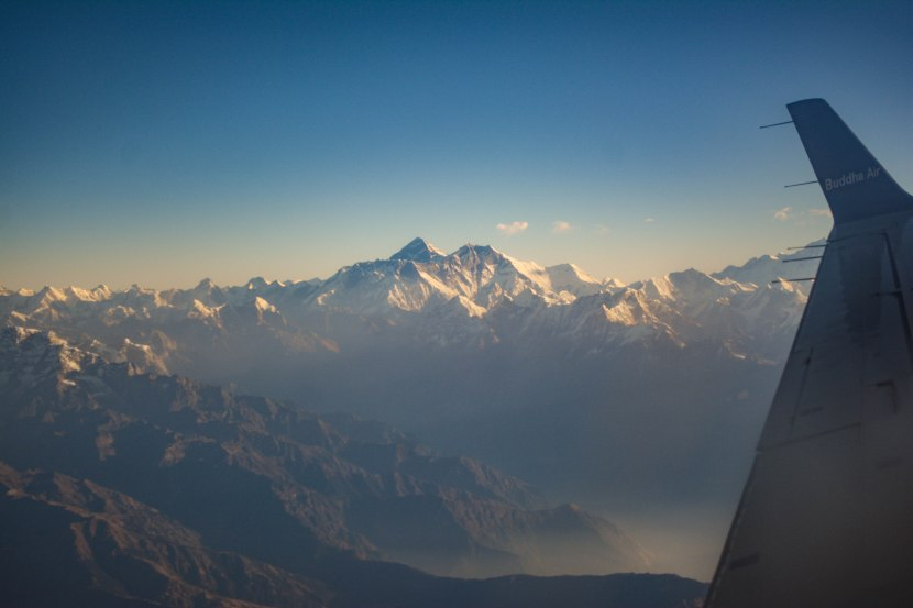 A bird's eye view of the HimalayanMountains