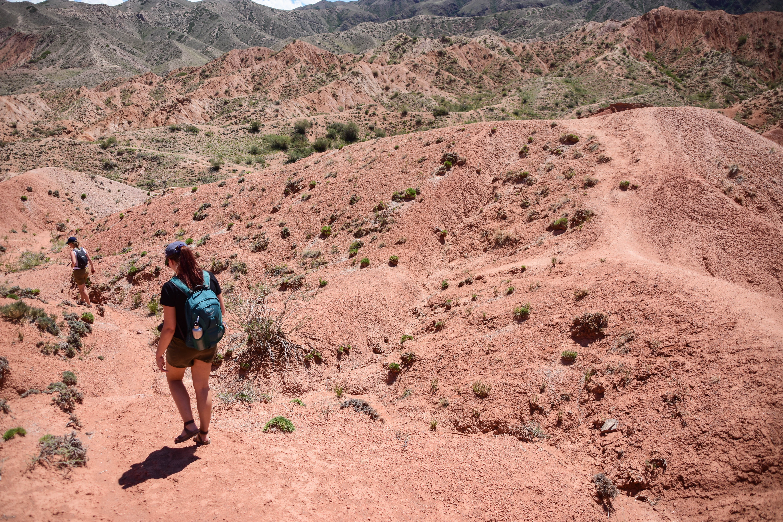 CoverMore_Lisa_Owen_Kyrgyzstan_Fairytale Canyon Hiking Girls