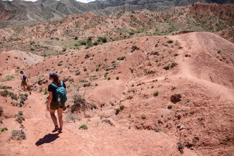 CoverMore_Lisa_Owen_Kyrgyzstan_Fairytale Canyon Hiking Girls