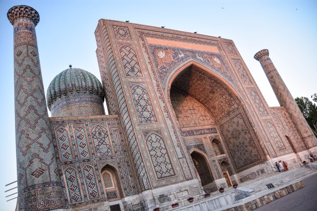 CoverMore_Lisa_Owen_Uzbekistan_Samarkand__Registan Sunset